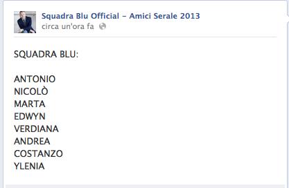 Squadra Blu amici 2013