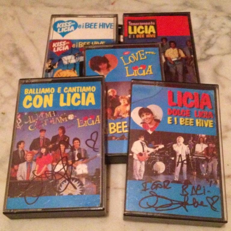 cristina d'avena autografo cassette licia