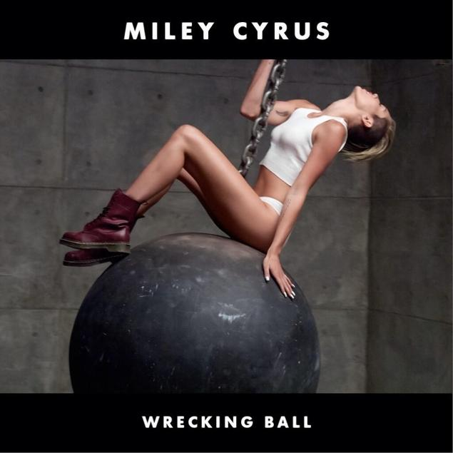 miley cyrus wrecking ball cover copertina